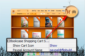 add shopping cart to show in bookcase