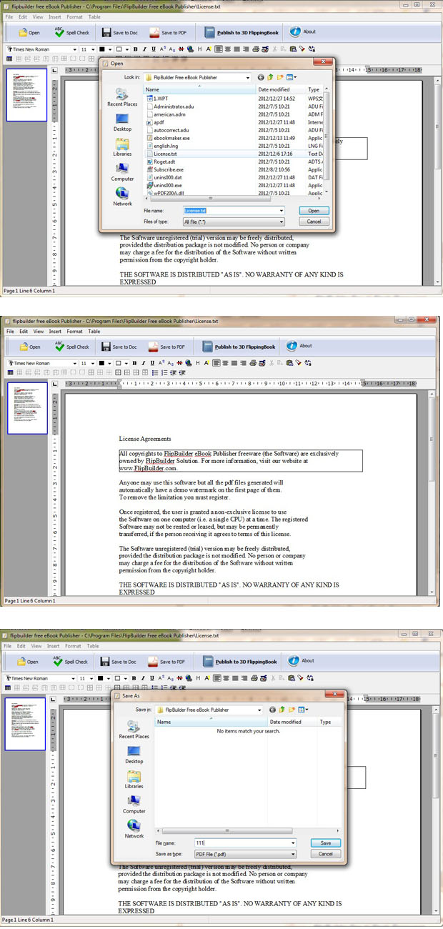 Windows 7 FlipBuilder Ebook Publisher (Freeware) 1.0.0 full