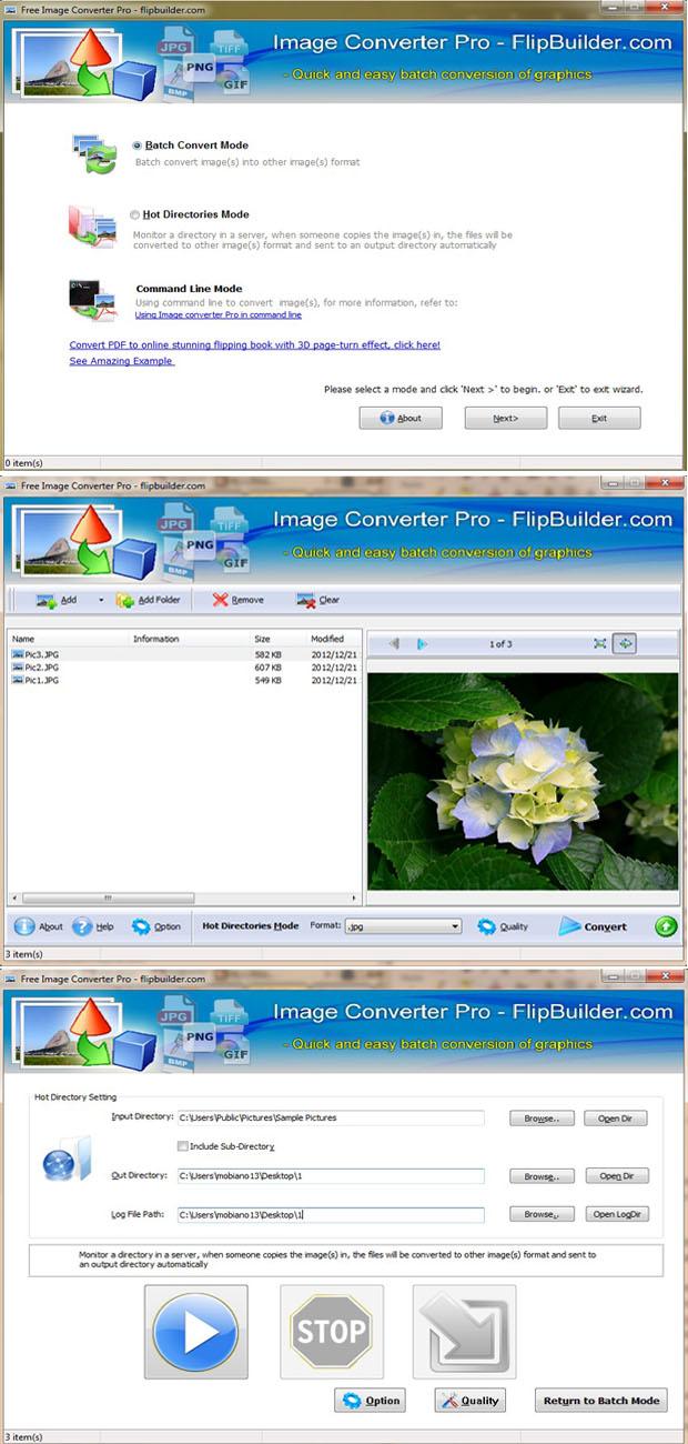 Free download FlipBuilder Image Converter Pro (Freeware)