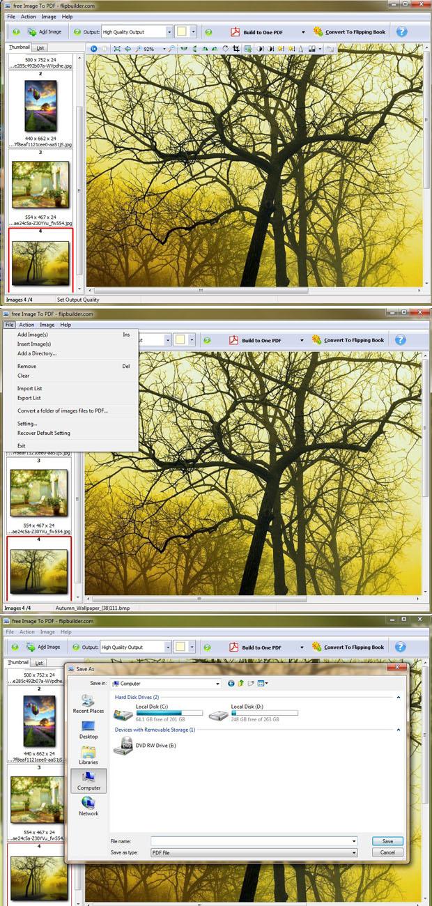 FlipBuilder Image to PDF Converter (Freeware) 1.0.0 full