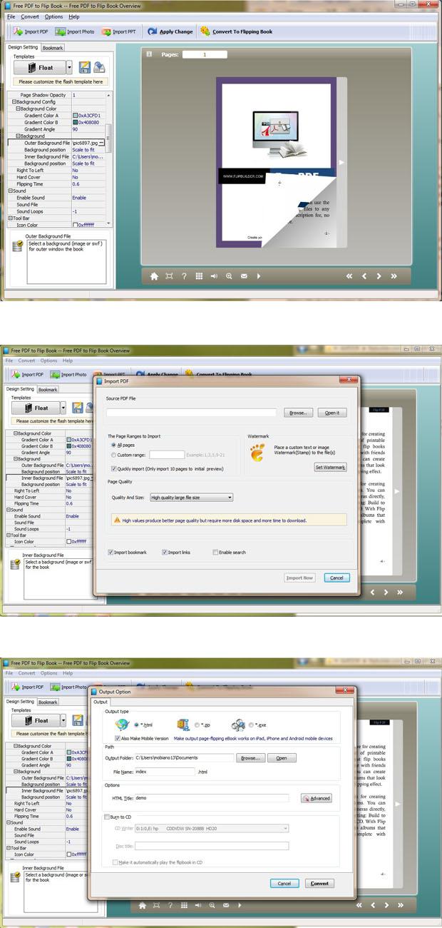 Windows 7 FlipBuilder PDF to Flip Book (Freeware) 1.0.0 full