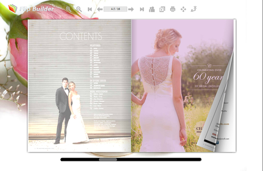 Create modern bridal magazine with free template flipbuilder free bridal magazine template junglespirit Images