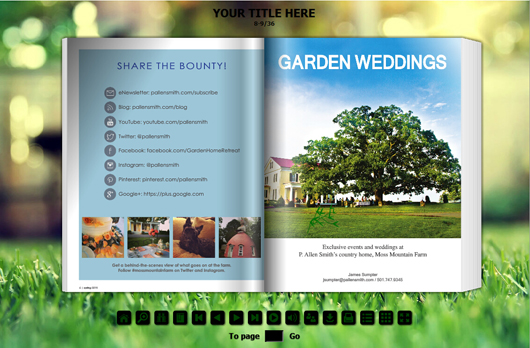 Diy Ideal Gardening Magazine With Flash Template Flipbuilder Com