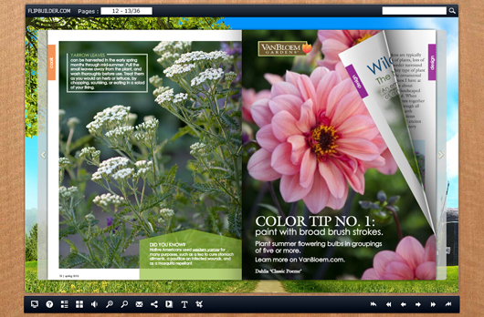free gardening magazine template