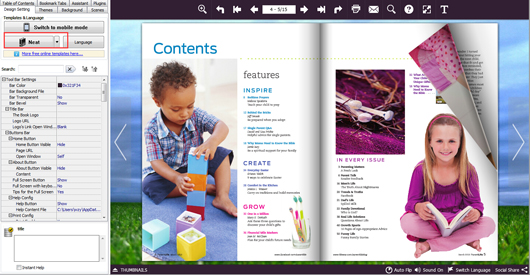 free kids magazine template