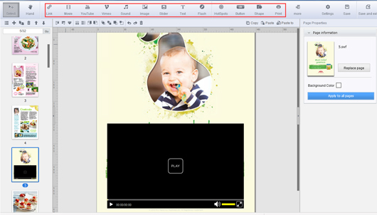 create a flash magazine from PDF file