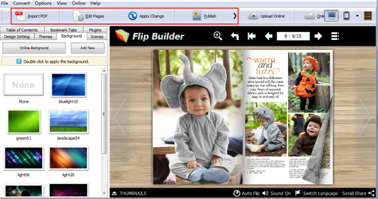 make a magazine with Flip PDF Professional
