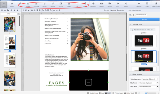 self publish a multimedia magazine