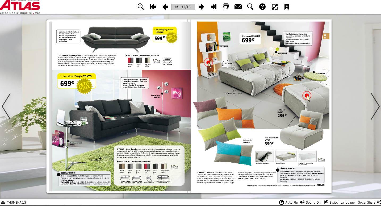 Convertissez vos pdf en flipbooks pour publier des for Catalogue monsieur meuble pdf