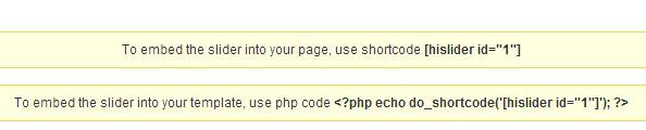 embed slider plugin to wordpress