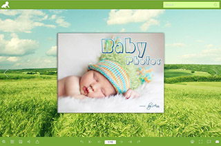 digital baby photo book