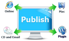 Publish online, offline, email, CD and WordPress plugin