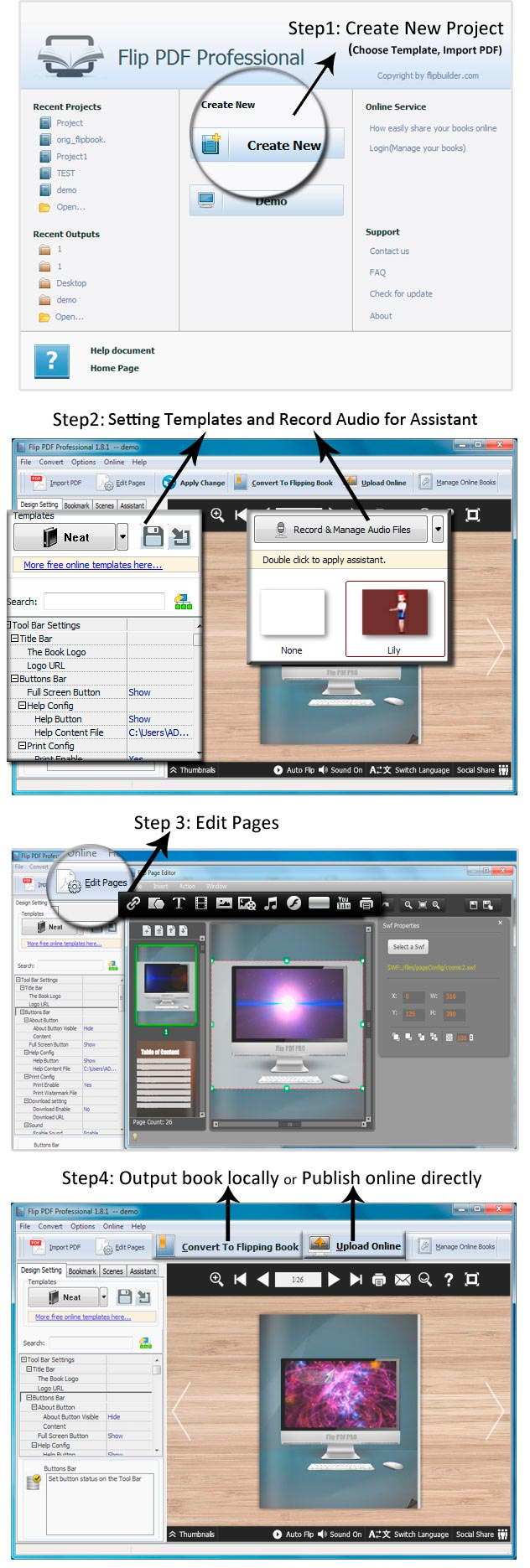 Page flip ebook read books on computer or mobile easily and easy steps of convert pdf to ebook fandeluxe Choice Image