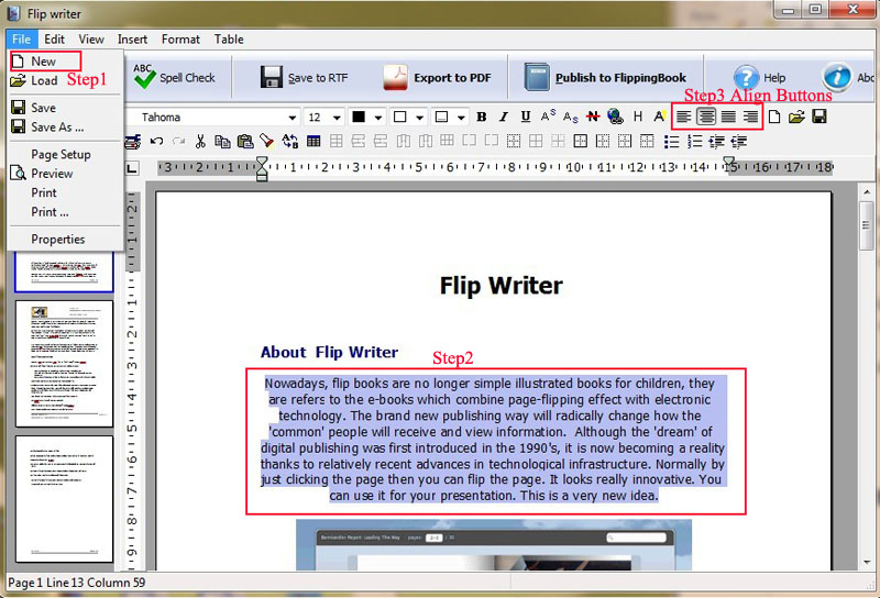 align-text-with-flip-writer.jpg