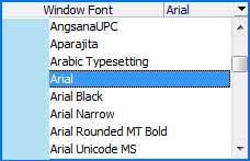 bookmark font