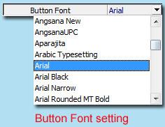 buttons font