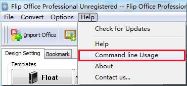 Use command line mode to create page flipbook? [FlipBuilder com]