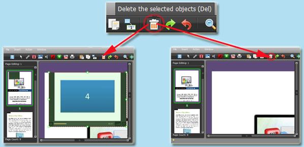 delete added object