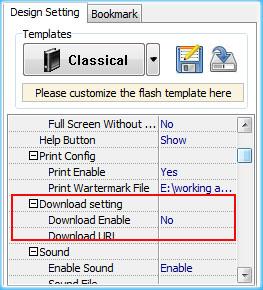 enable print