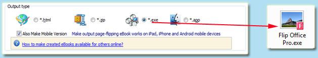 exe format ebook