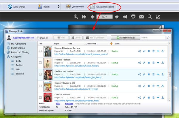 manage online flipbooks