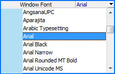 windows font