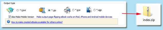 zip format ebook
