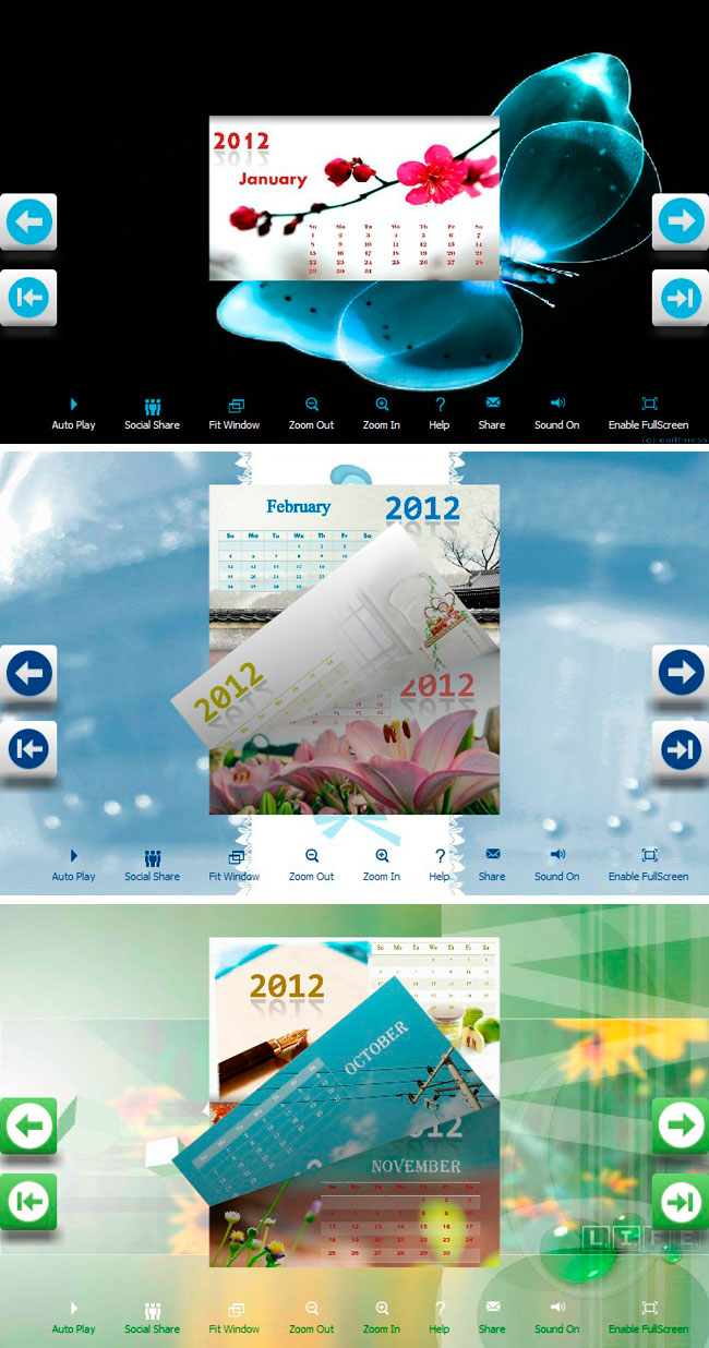 Flipbook_Themes_Package_Calendar_Esthetic Freeware