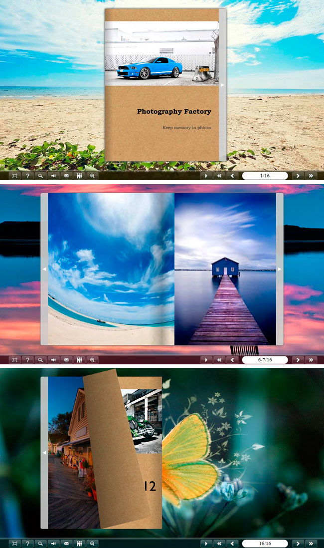 Classical Gallery Flip Theme Package full screenshot