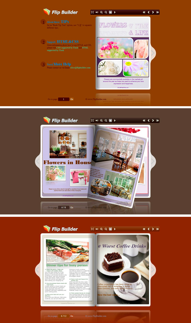 Flip_Themes_Package_Conciseness_Brown Freeware