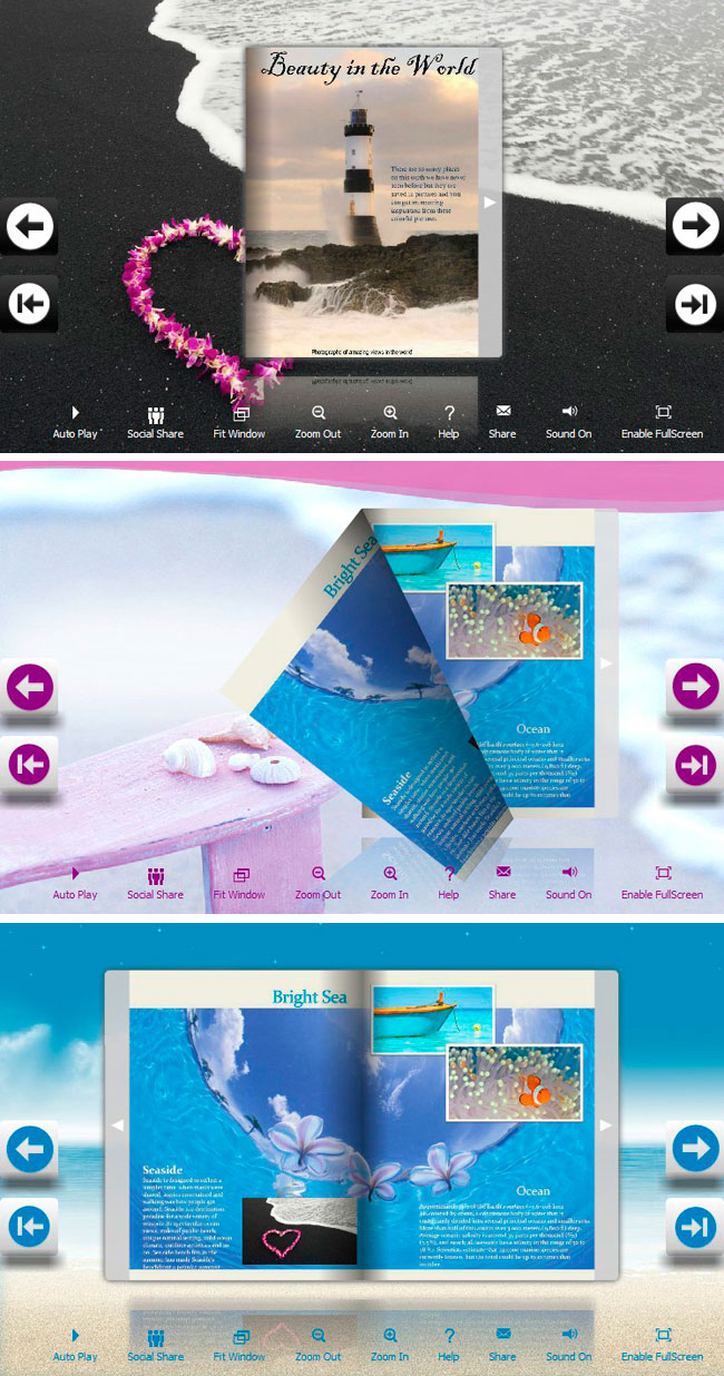 Flip_Themes_Package_Lively_Beach full screenshot