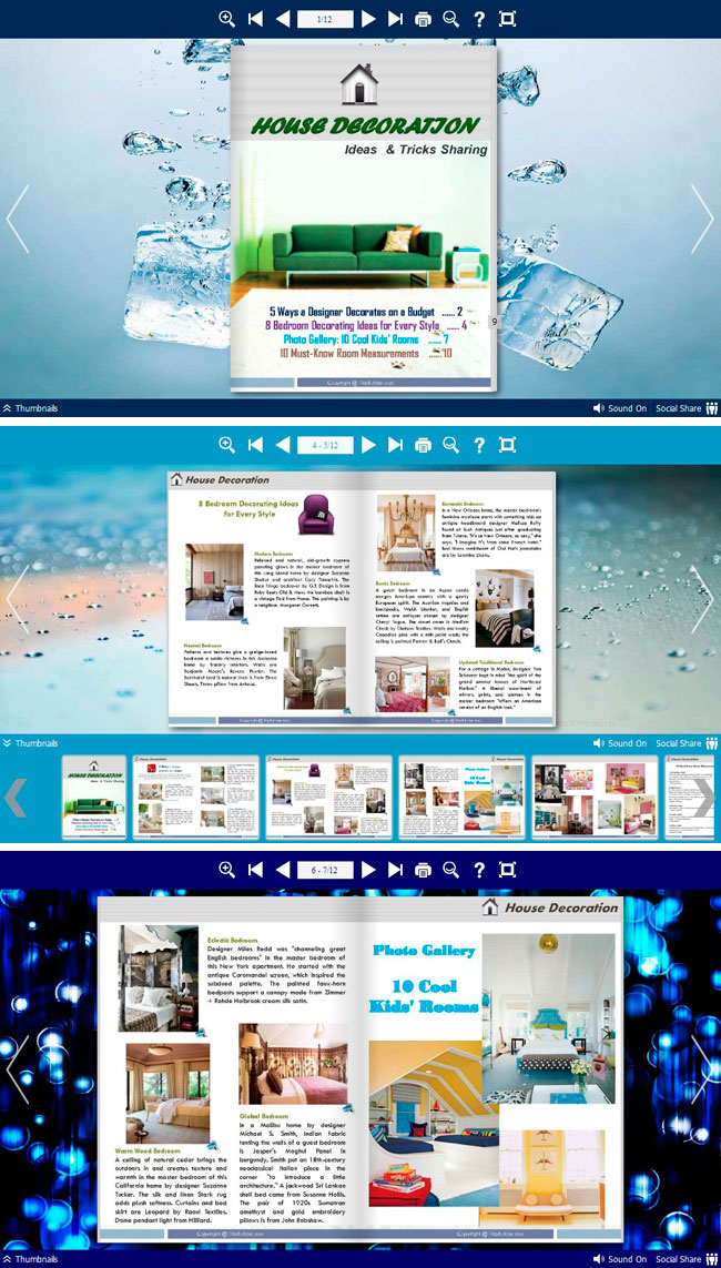 Windows 7 Flipbook_Themes_Package_Neat_Blue 1.0 full