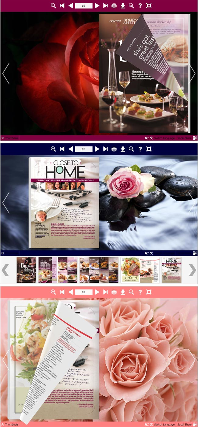 Flipbook_Themes_Package_Neat_Rose