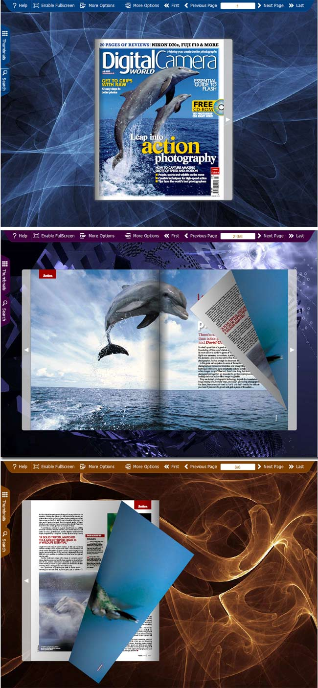 Flipbook_Themes_Package_Spread_3DDesign full screenshot
