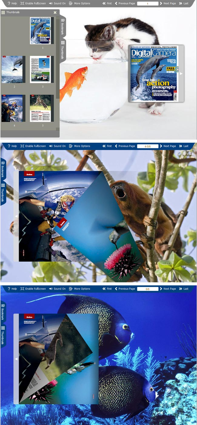 Windows 7 Flipbook_Themes_Package_Spread_Animal 1.0 full