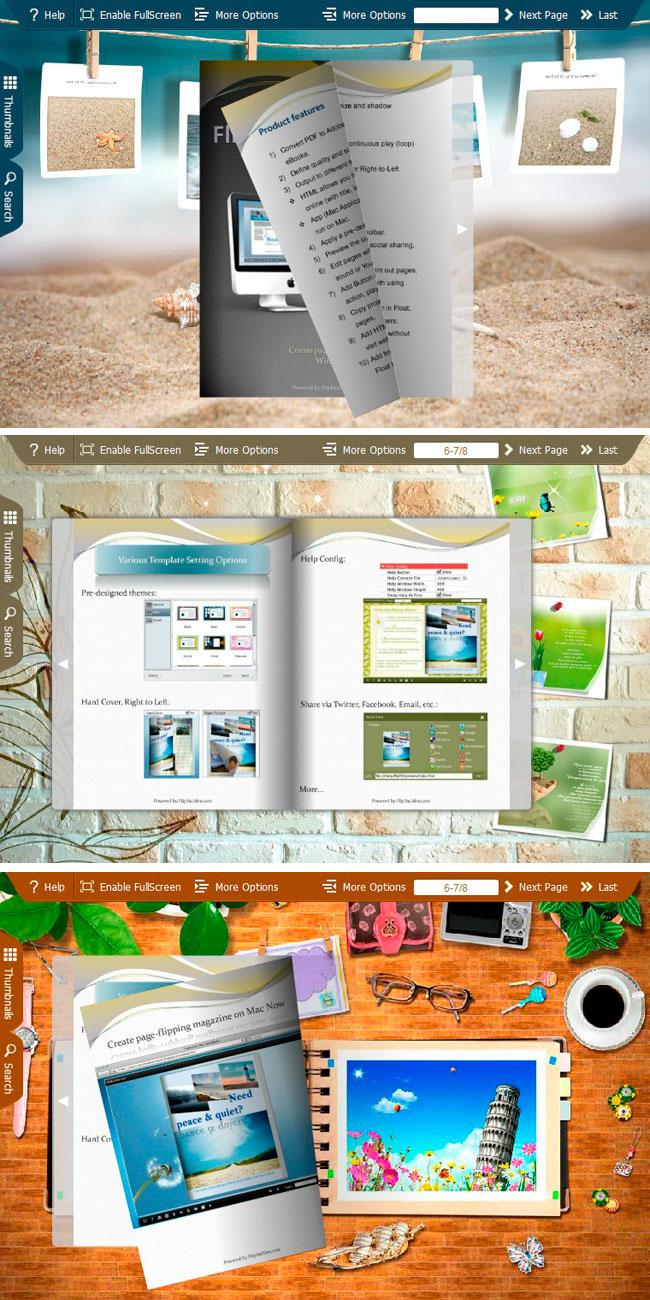 spread photos theme helps to present unforgettable photos