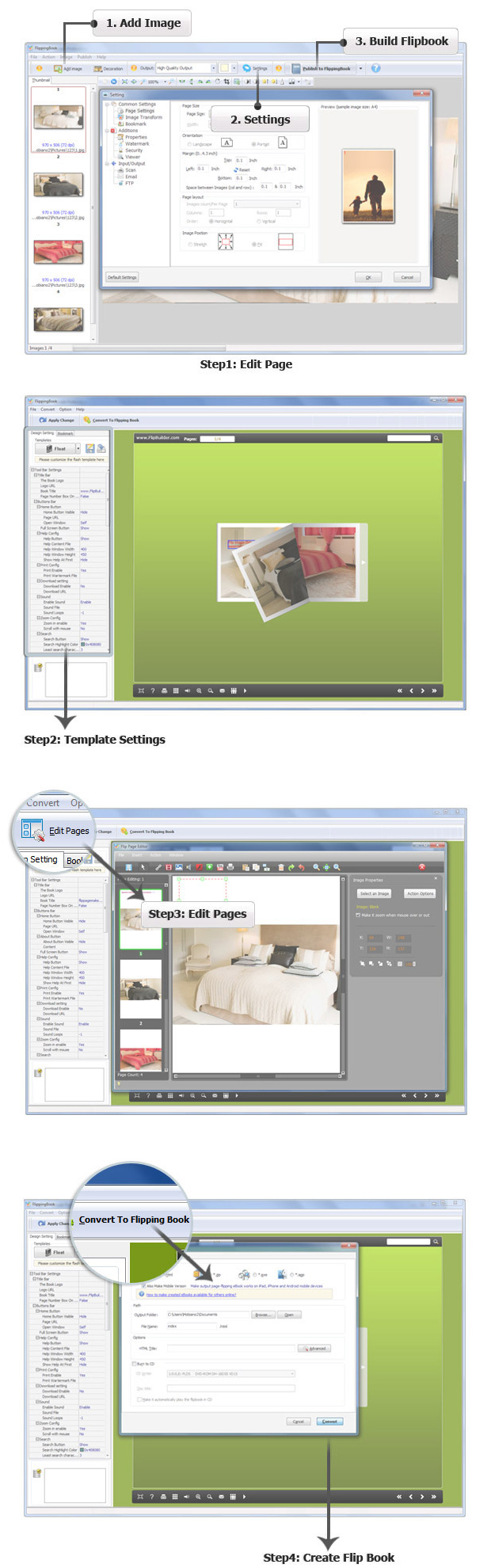 easy steps of using Flip PDF for iPad