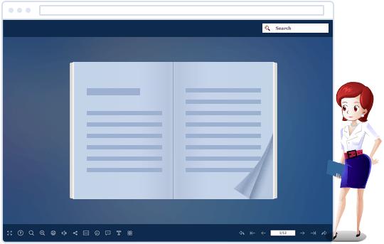 ebook แอนิเมชั่นพร้อมผู้ช่วยการ์ตูน