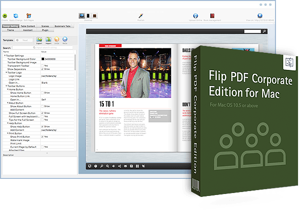 Flip pdf corporate edition for mac powerful premium mac flipbook flip pdf corporate edition for mac screenshot fandeluxe Images
