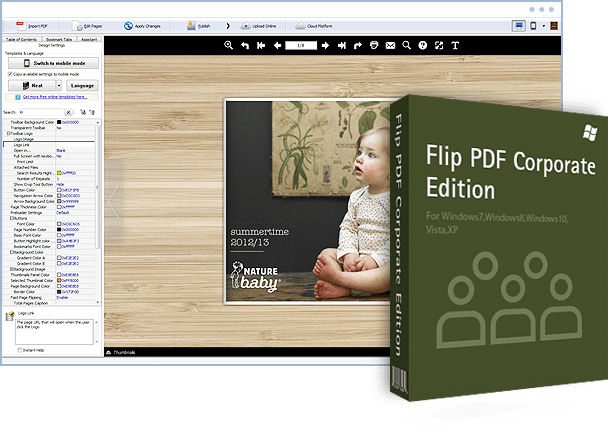 flip pdf corporate edition screenshot