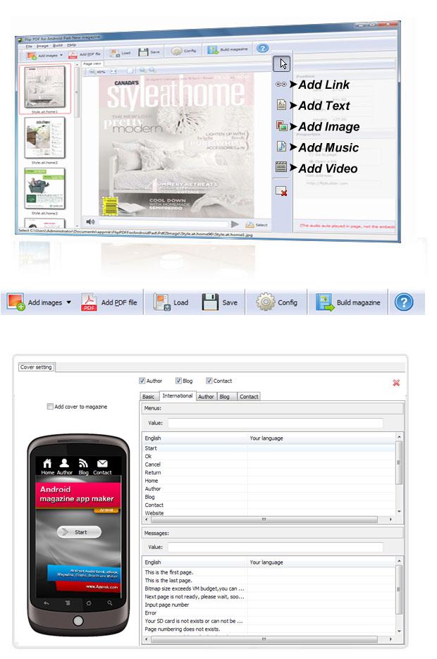android book app, multi media app, book app maker