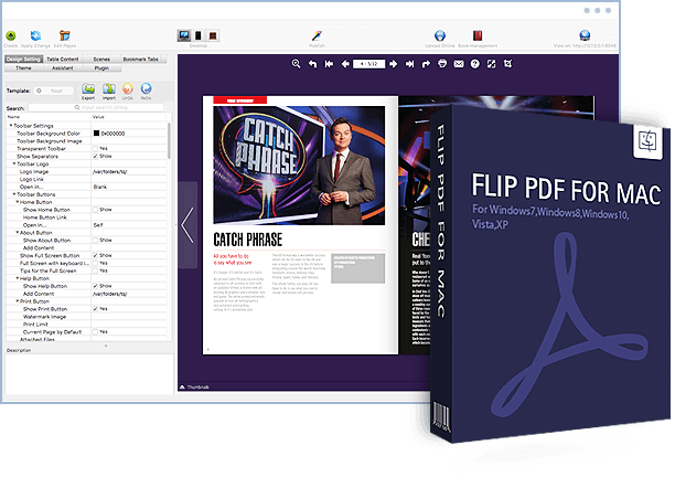 Flip pdf for mac convert pdf to stunning page flipping ebooks on flip pdf for mac screenshot fandeluxe Images