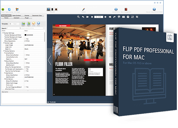 Flip PDF Professional For Mac Screenshot