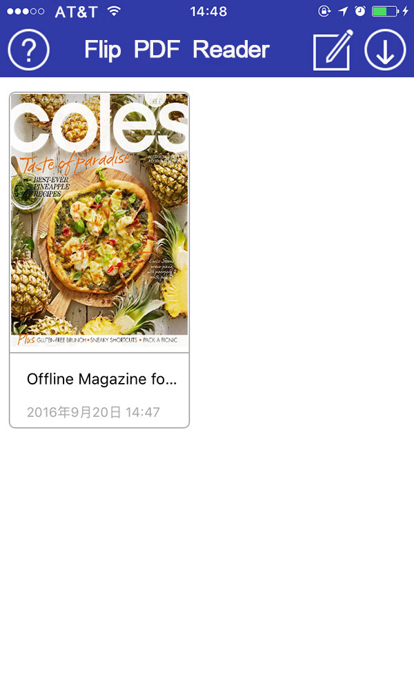 read a magazine to iTune
