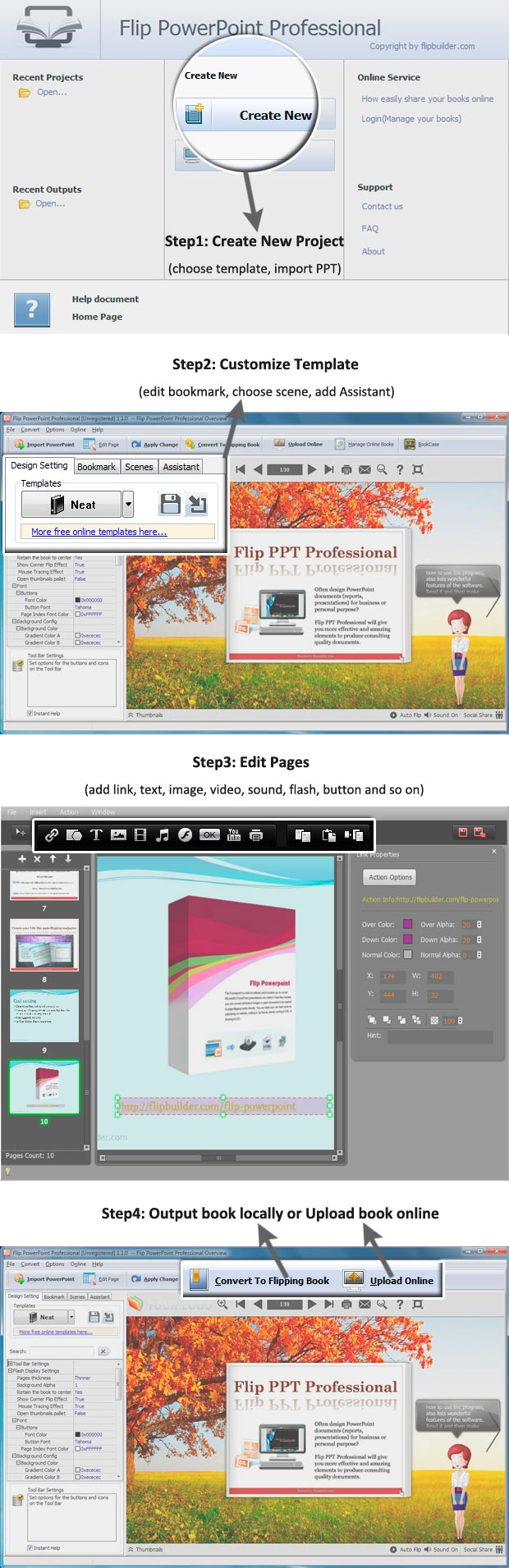 Flipping Page Ebook Features