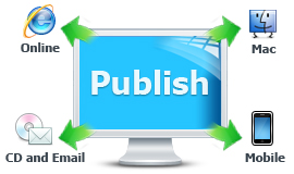 Publish online, email and CD