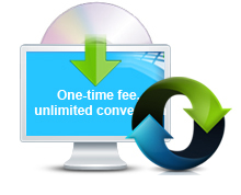 One-time fee, unlimited conversion