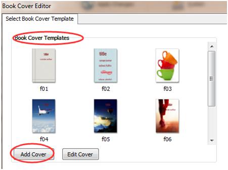 add a new book cover