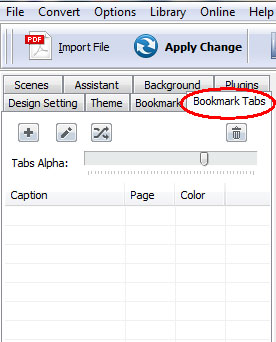 add bookmark tabs