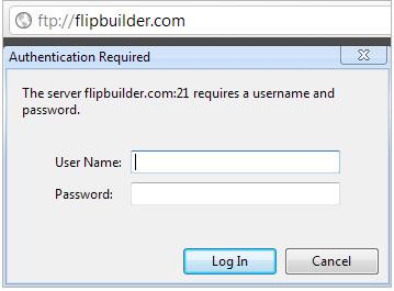 How do I upload files to the Internet via FTP? [FlipBuilder com]